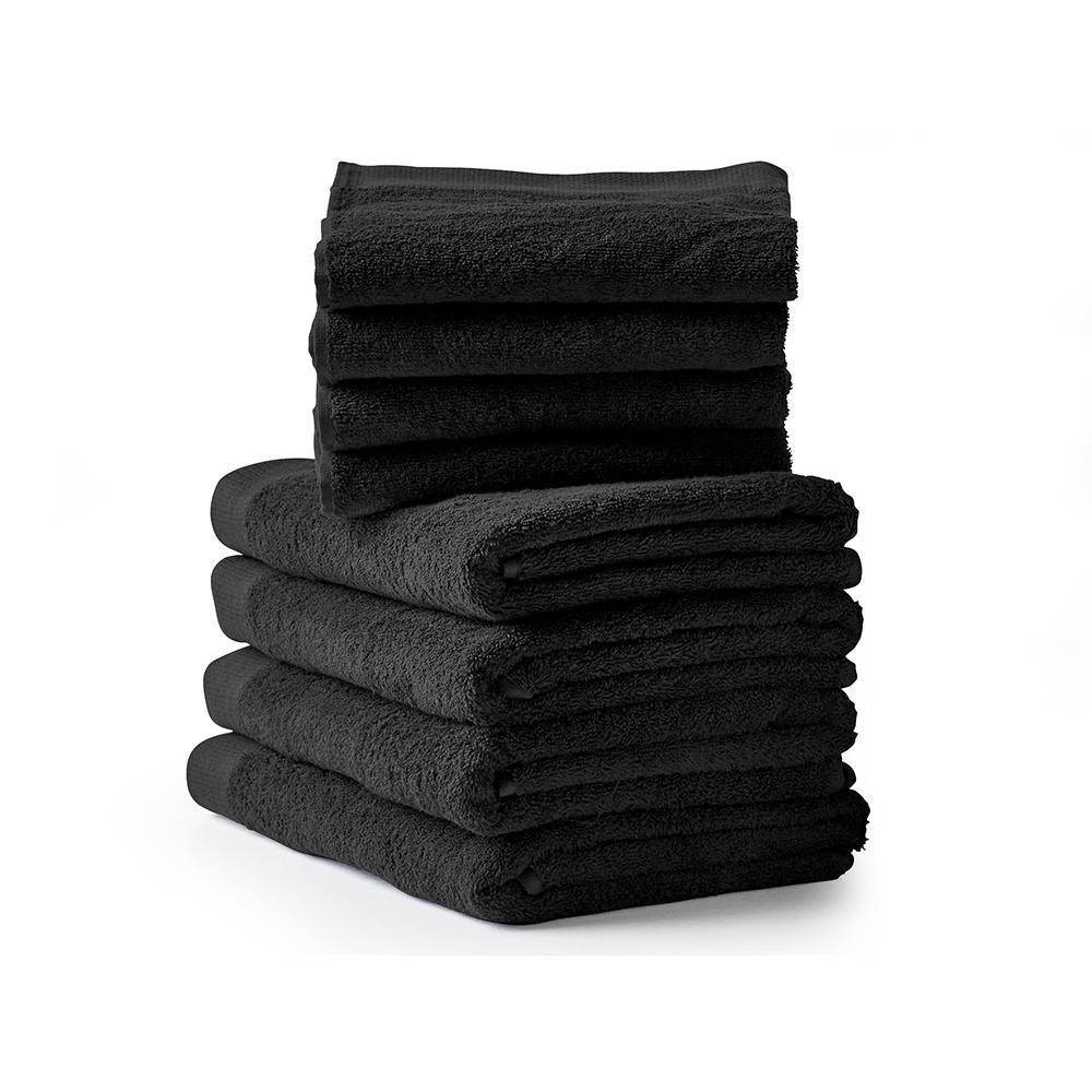 Comfort håndklæder, sort