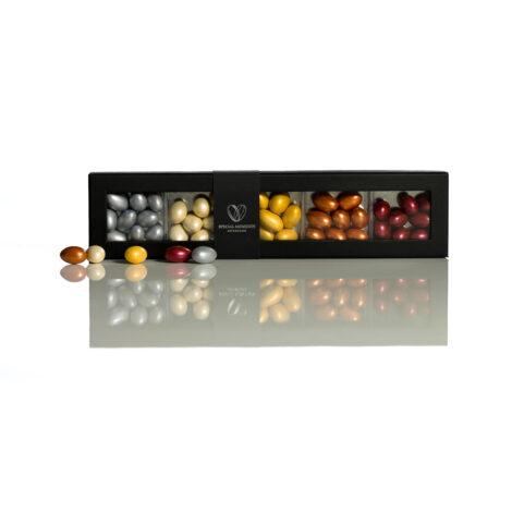 Chokolademandler, metallic. 5 smage